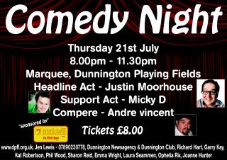Comedy Night at Dunnington Playing Fields